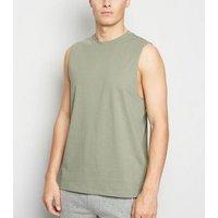 Olive Sleeveless Tank Top New Look