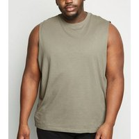 Plus Size Olive Tank Top New Look
