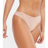 Pale Pink Seamless Lace Back Thong New Look