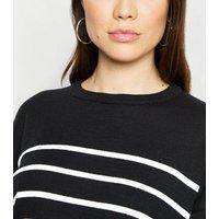 Black Stripe Long Sleeve Jumper New Look