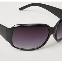 Black Rectangle Sunglasses New Look