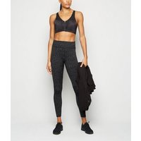 Grey Space Dye Sports Leggings New Look
