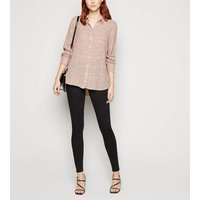 Tall Pink Spot Long Sleeve Shirt New Look