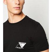 Black Triangle New York Slogan T-Shirt New Look