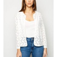 JDY White Lace Cardigan New Look