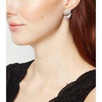 Silver Cubic Zirconia Mini Chandelier Earrings New Look
