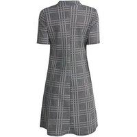 Tall Grey Check Swing Dress New Look