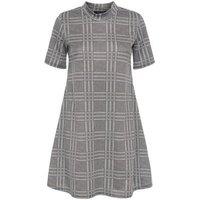 Petite Light Grey Check Swing Dress New Look