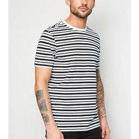 Black Stripe Short Sleeve T-Shirt New Look