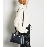 Black Leather-Look Mini Tote Bag New Look Vegan
