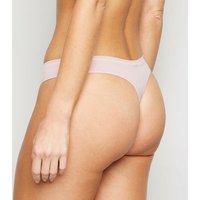 3 Pack Multicoloured Stripe Seamless Thongs New Look