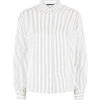 White Stripe Poplin Long Sleeve Shirt New Look
