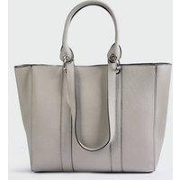 Grey Double Handle Tote Bag New Look Vegan