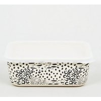 Black Leopard Print Bamboo Lunch Box New Look