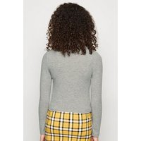 Girls Grey Ribbed High Neck Top New Look
