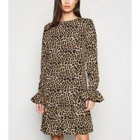 NA-KD Brown Leopard Print Mini Dress New Look