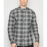 Only & Sons Navy Check Shirt New Look