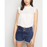 Blue High Waist 'Lift & Shape' Denim Shorts New Look