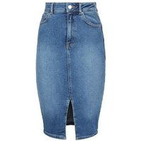 Blue 'Lift & Shape' Denim Pencil Skirt New Look
