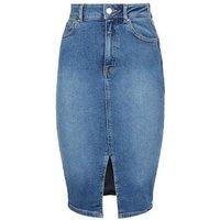 Blue Lift and Shape Denim Pencil Skirt New Look