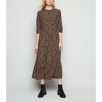 Black Abstract Spot Smock Midi Dress New Look