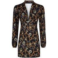 Missfiga-Black-Jewel-Chain-Print-Plunge-Dress-New-Look