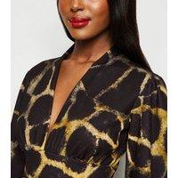 Missfiga-Multicoloured-Animal-Print-Plunge-Dress-New-Look