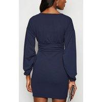 Missfiga Navy Ruched Waist Bodycon Dress New Look