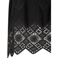 Black Crochet Sleeveless Top New Look