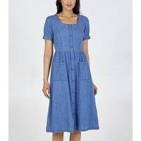 Blue-Vanilla-Blue-Square-Neck-Denim-Midi-Dress-New-Look
