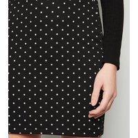 Black Spot Mini Tube Skirt New Look