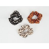 3 Pack Multicoloured Spot Scrunchies New Look