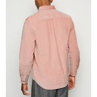 Mid Pink Corduroy Long Sleeve Shirt New Look