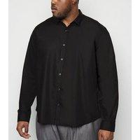 Plus Size Black Poplin Easy Iron Shirt New Look