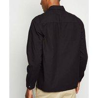 Black Cotton Zip Up Light Jacket New Look