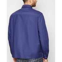 Indigo Cotton Zip Up Light Jacket New Look