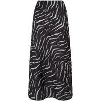 Light Grey Zebra Print Bias Cut Midi Skirt New Look