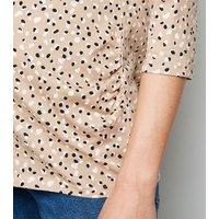 Maternity Brown Leopard Print T-Shirt New Look