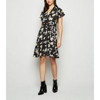 Mela Black Daisy Shirt Dress New Look