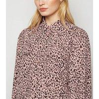 Pink Leopard Print Patch Pocket Shirt New Look