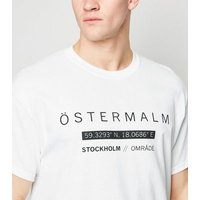 White Oversized Ostermalm Slogan T-Shirt New Look