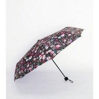 Multicoloured Floral Umbrella New Look