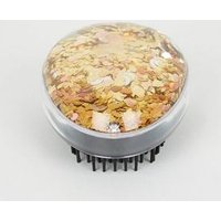 Gold Holographic Glitter Dome Hair Brush New Look