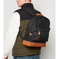 Mi-Pac Black Shell and Suedette Backpack New Look