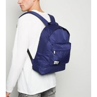 Mi-Pac Navy Nylon Backpack New Look
