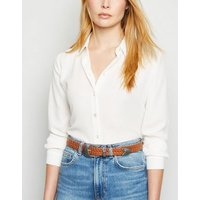 Tan Plaited Western Belt New Look