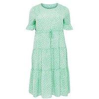 Blue Vanilla Curves Green Abstract Spot Midi Dress New Look