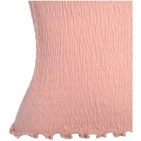 Coral Shirred Frill Trim Cami New Look