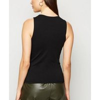 Black Organic Cotton Vest New Look