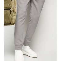 Pale Grey Cuffed Joggers New Look